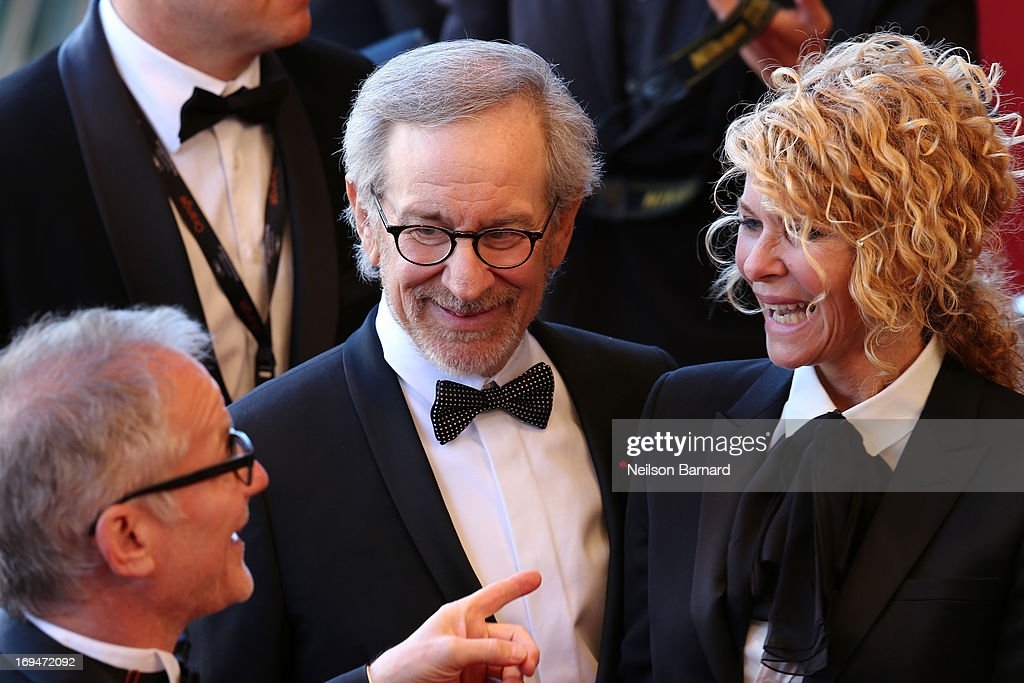 Cannes Film Festival artistic director Thierry Fremaux, Jury president Steven Spielberg and Kate Capshaw arrive at 'Venus In Fur' Premiere during the 66th Annual Cannes Film Festival at Grand Theatre Lumiere on May 25, 2013 in Cannes, France.