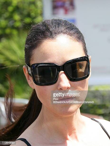 Cannes Film Festival Celebrities signing autographs in front of the Martinez hotel in Cannes France on May 22 2006Monica Bellucci