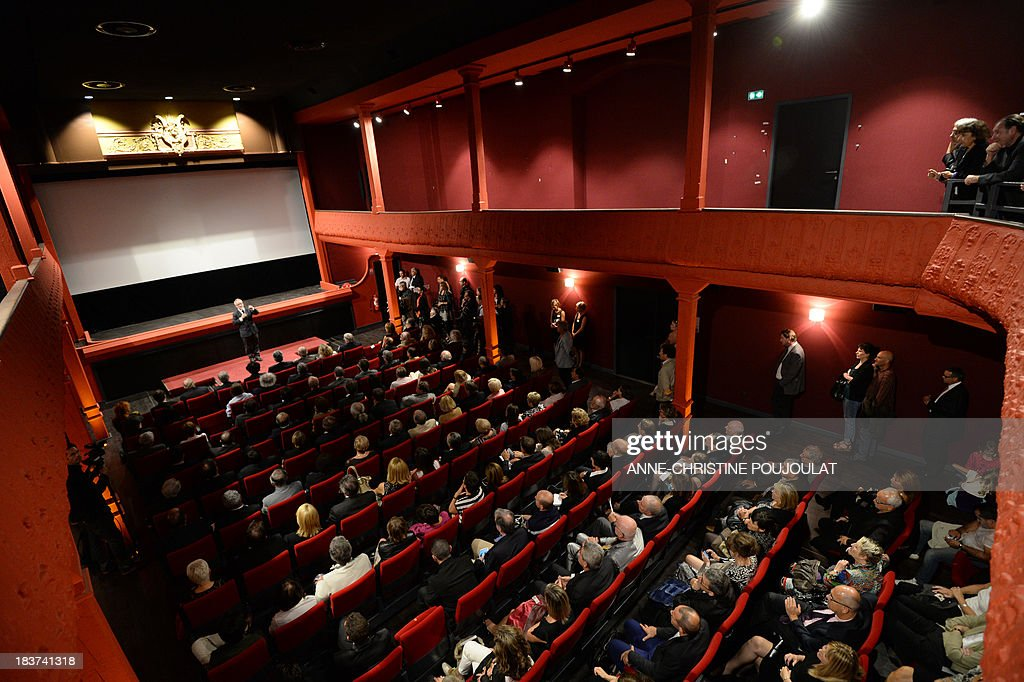 Cannes film festival director Thierry Fremaux delivers a speech during the official re-opening of the world's oldest cinema theater 'L'Eden' on October 9, 2013 in La Ciotat, southern France.