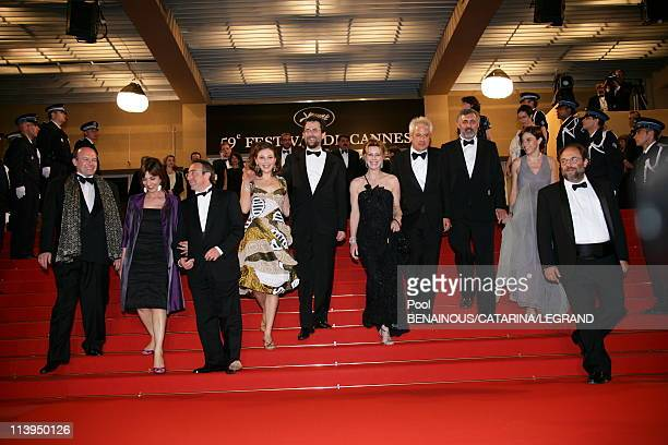 Cannes Film Festival End of the screening of 'Il Caimano' In Cannes France on May 22 2006Cast of 'il Caimano' actress Margherita Buy director Nanni...