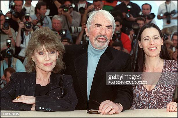 Cannes Film Festival Photo Call 'Conversation With Gregory Peck' In Cannes France On May 16 2000Gregory Peck his wife Veronique and daughter Cecilia