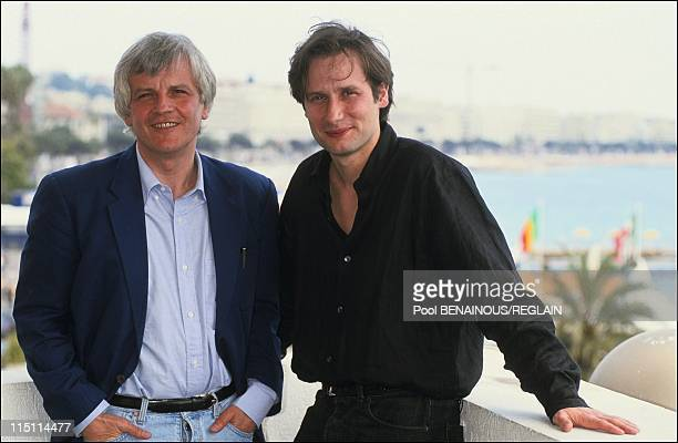 Cannes Film Festival presentation of the film 'Hors la Vie' by Maroun Bagdadi in Cannes France on May 13 1991 Jacques Perrin and Hyppolite Girardot