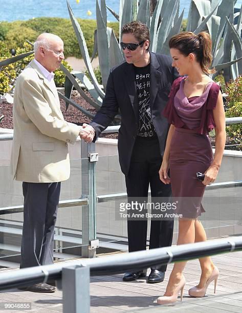 Cannes Film Festival President Gilles Jacob juror Benicio Del Toro and juror Kate Beckinsale attend the Jury Photocall at the Palais des Festivals...