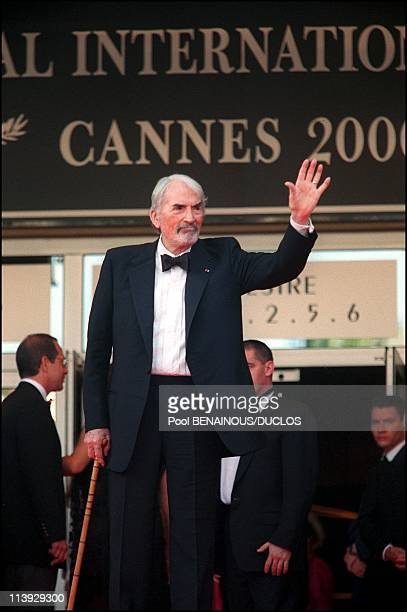 Cannes Film Festival Stairs Of 'Conversation With Gregory Peck' In Cannes France On May 16 2000Gregory Peck
