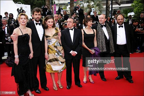 Cannes Film Festival Stairs of 'Il Caimano' in Cannes France on May 22 2006Cast of 'il Caimano' actress Margherita Buy director Nanni Moretti and...