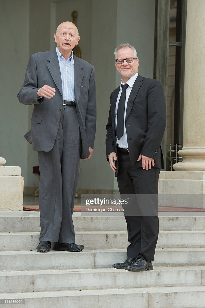 Cannes Flim Festival President Gilles Jacob and Delegate General Thierry Fremaux Attend Lunch At Elysee Palace at Elysee Palace on June 26, 2013 in Paris, France.