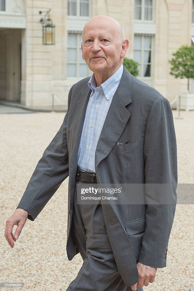 Cannes Flim Festival President <a gi-track='captionPersonalityLinkClicked' href=/galleries/search?phrase=Gilles+Jacob&family=editorial&specificpeople=212799 ng-click='$event.stopPropagation()'>Gilles Jacob</a> Attend Lunch At Elysee Palace at Elysee Palace on June 26, 2013 in Paris, France.