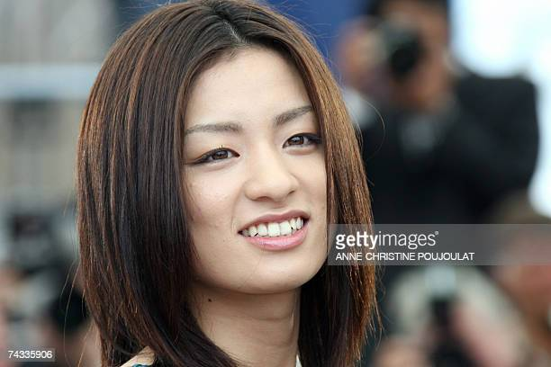 Japanese actress Machiko Ono poses 26 May 2007 during a photocall for Japanese director Naomi Kawase's film 'Mogari No Mori' in the Festival Palace...