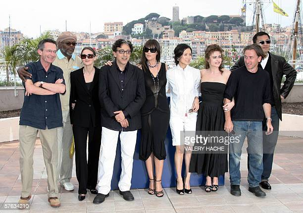 The members of the Jury of the 59th edition of the Cannes Film Festival French director Patrice Leconte US actor Samuel LJackson Argentinean director...