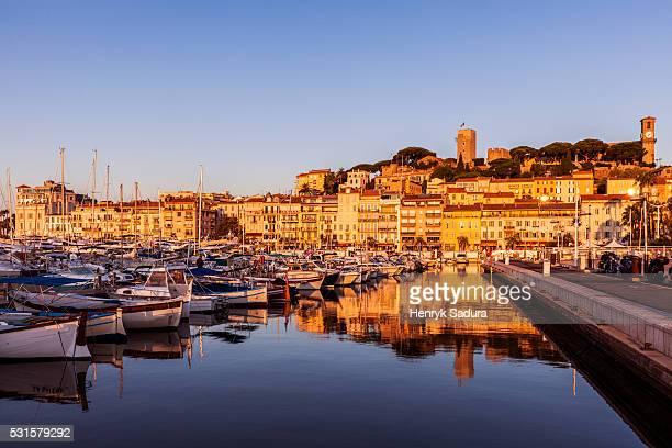 Cannes panorama at sunrise