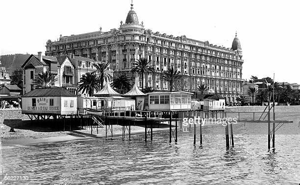 Cannes The Carlton Hotel and the baths of the Croisette about 1900 Architect M Dalmas