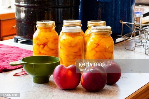 Canning Peaches - Five Full Jars