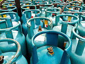 Cannisters of cooking gas, for domestic use.