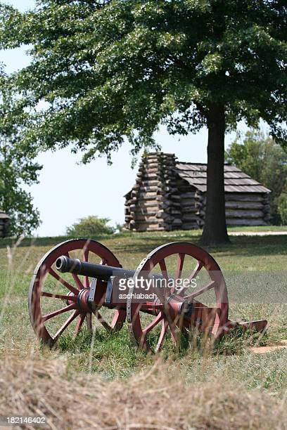 Cannon and Log Cabin