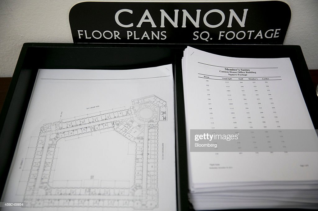 Freshman Lawmakers Play the Lottery for Top Capitol Office Space    Cannon House Office Building floor plans sit outside the member elect room lottery draw on