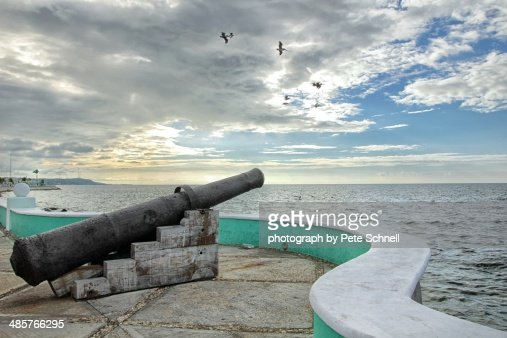 Cannon on Campeche's waterfront