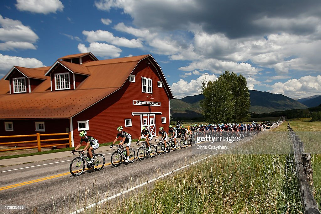 Cannondale Pro Cycling drives the Peloton during stage one of the USA Pro Cycling Challenge on August 19, 2013 in Aspen, Colorado.