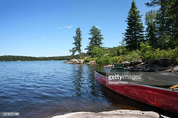 Canoe on Wilderness Lake