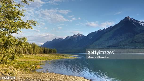 Canoe Reach, Kinbasket Lake with Mount Thompson, Valemount, B.C.