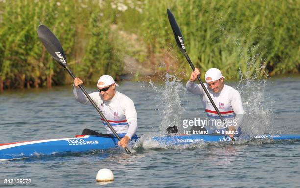 Canoe Sprint Team GB members Liam Heath and Jon Schofield who will compete in the K4 500m during the Team GB Canoe Sprint announcement at Eton...
