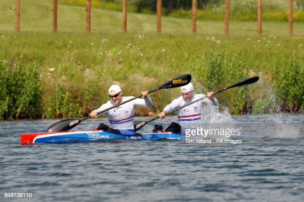 Canoe Sprint Team GB members Liam Heath and Jon Schofield who will compete in the K2 200m during the Team GB Canoe Sprint announcement at Eton...
