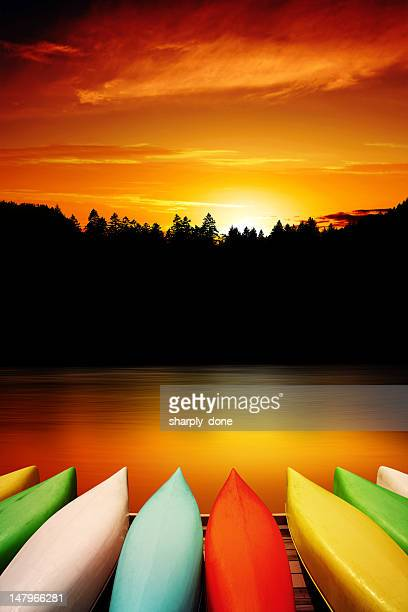 XXXL canoe sunset
