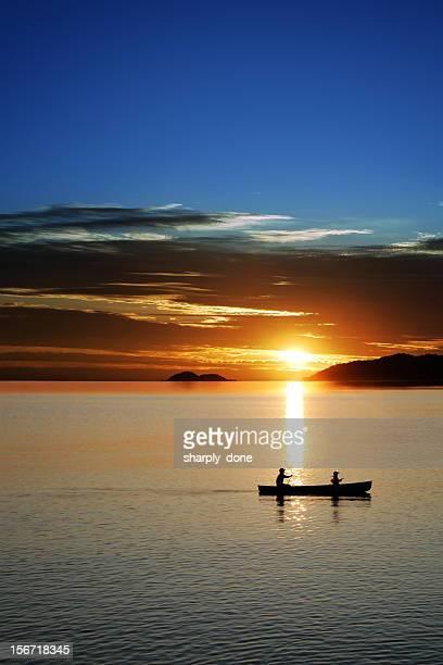 XXL canoe sunset