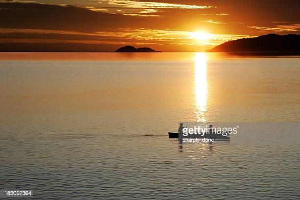 XL canoe sunset