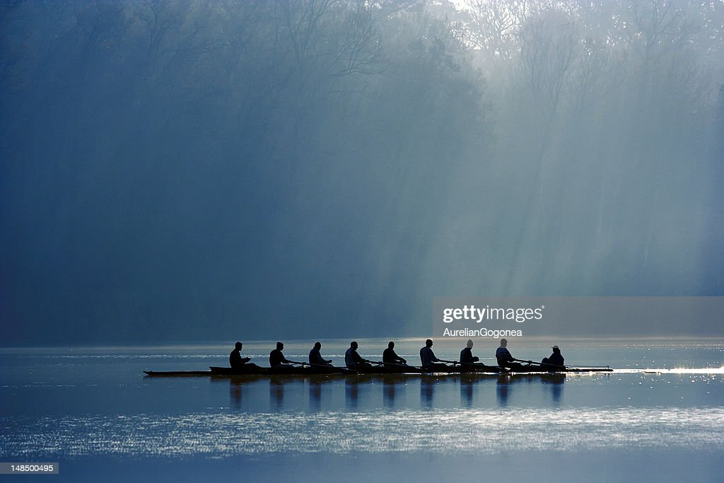 Canoe team : Stock Photo
