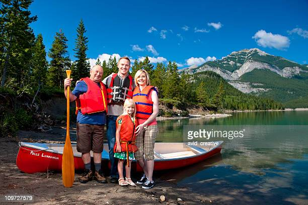 Canoeing Family in the Great Outdoors