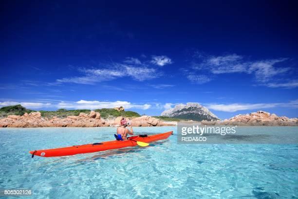 Canoeing Gallurese Coast Loiri Porto San Paolo Sardinia Italy