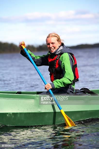 Canoeing in Lapland Sweden.
