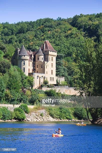 Canoeing on the Dordogne River, La Roque Gageac, Dordogne, Aquitaine, France
