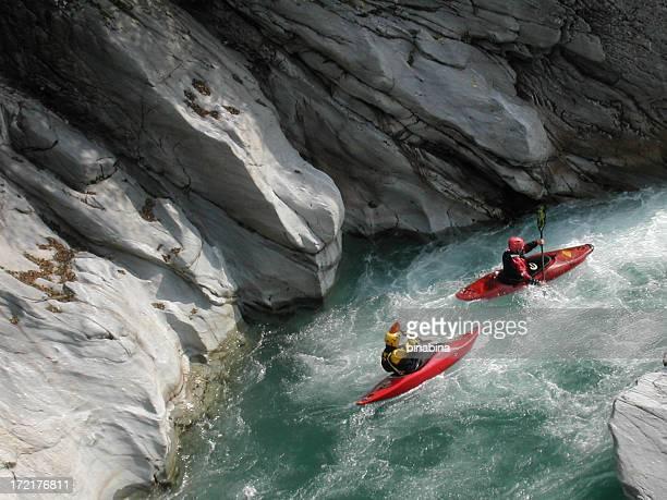 Kanufahrer die Sesia river
