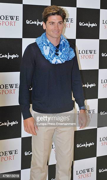 Canoeist Javier Hernanz attends new Loewe fragances presentation photocall at El Corte Ingles store on March 18 2014 in Madrid Spain
