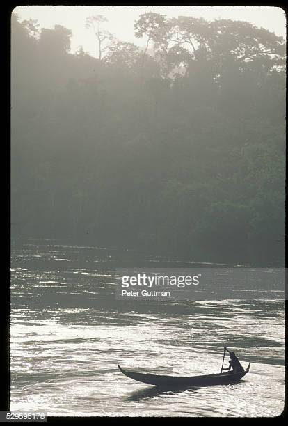 Canoeist on a River