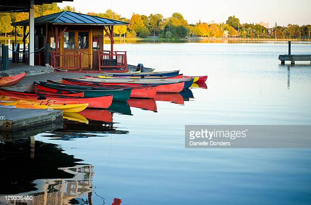 Canoes for rent on Dow's Lake