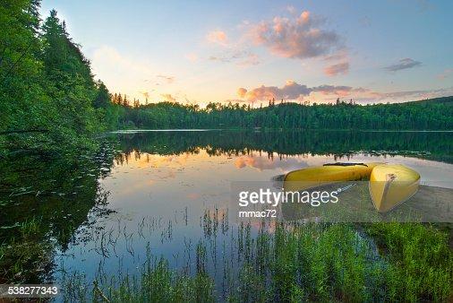 カヌーの湖