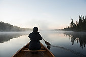 Canoing at first light