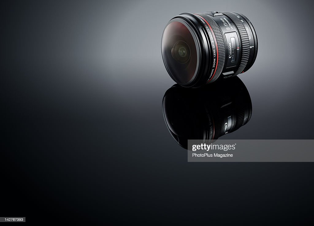 A Canon EF 8-15mm F/4L Fisheye USM camera lens, taken on September 21, 2011.