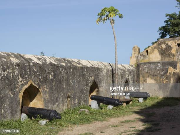 Canons in Fort Jesus in the old town in Mombasa Kenya