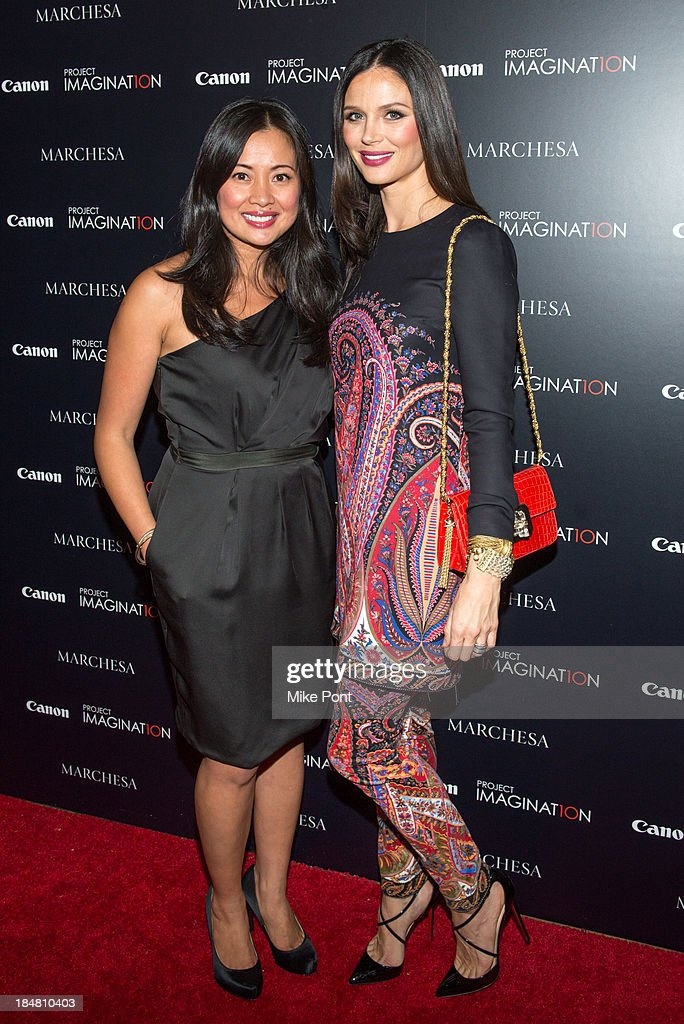 Canon's Michelle Fernandez and Designer / Director Georgina Chapman attend the 'A Dream Of Flying' Project Imaginat10n special screening at Crosby Street Hotel on October 16, 2013 in New York City.
