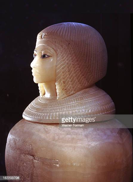 Canopic jar from the unfinished tomb KV 55 Though the inscription at the bottom of the jar is erased it is generally ascribed to Meritaten the eldest...