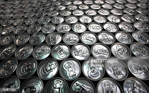 Cans of Guarana energy drink sit on the production line at the Knjaz Milos AD factory in Belgrade Serbia on Wednesday Sept 22 2010 The company...