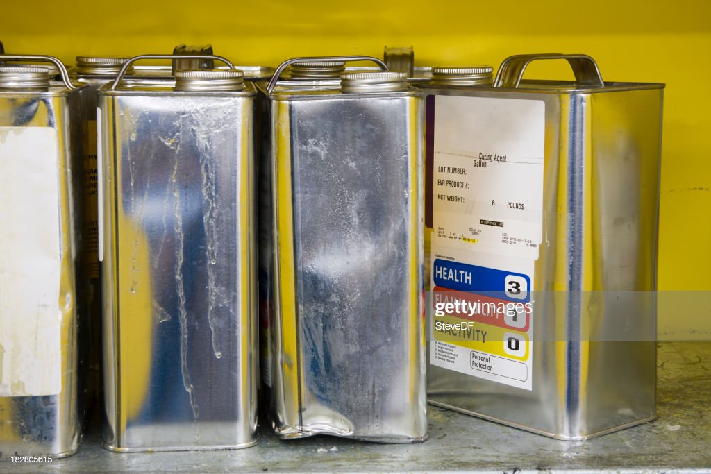 Cans of Hazardous Chemicals : Stock Photo