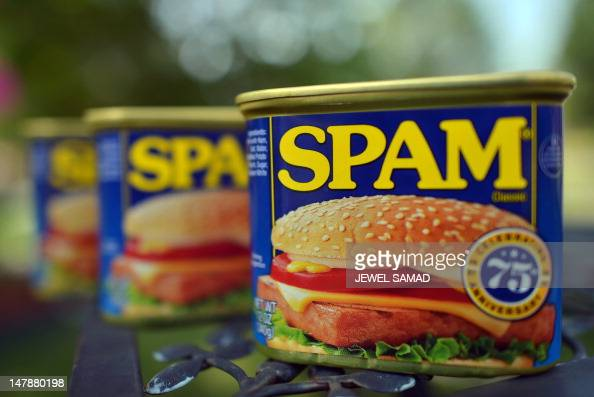 Cans of Spam meat made by the Hormel Foods Corporation are pictured in Silver Spring Maryland on July 5 2012 Hormel's famous canned meat which was...