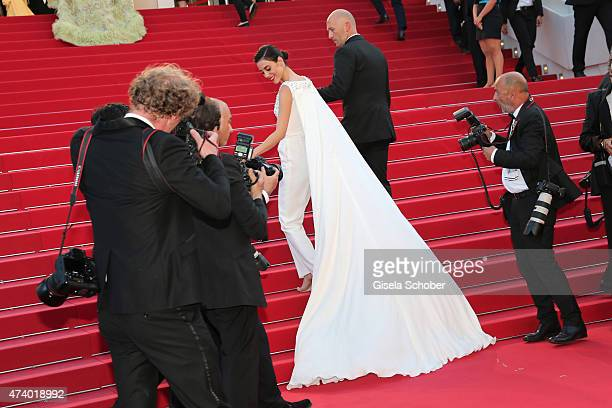Cansu Dere attends the Premiere of 'Inside Out' during the 68th annual Cannes Film Festival on May 18 2015 in Cannes France