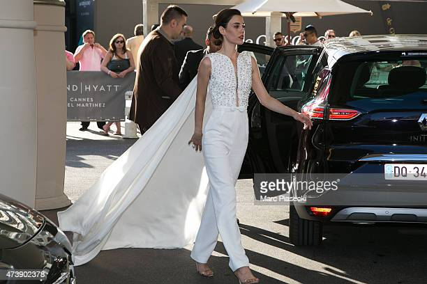 Cansu Dere is seen at the Grand Hyatt Cannes Hotel Martinez during the 68th annual Cannes Film Festival on May 18 2015 in Cannes France
