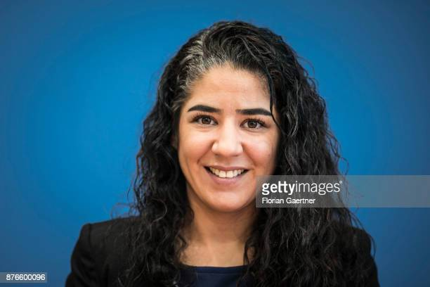 Cansu Zeren Deputy Head of the Turkish Community in Germany is pictured during a press conference on November 20 2017 in Berlin Germany