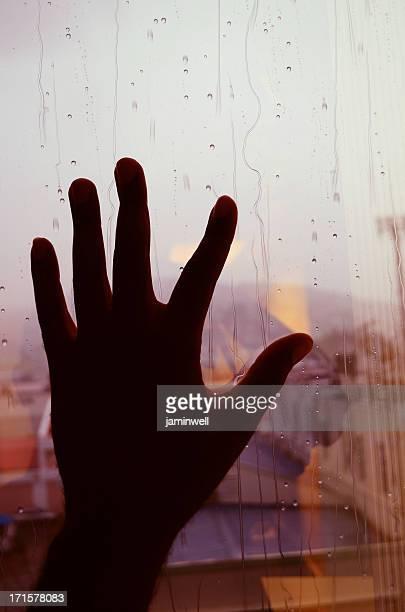 Non riesco a supporto della pioggia contro la finestra